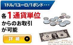 FX 1通貨単位 1ドル 1ユーロ 1ポンド